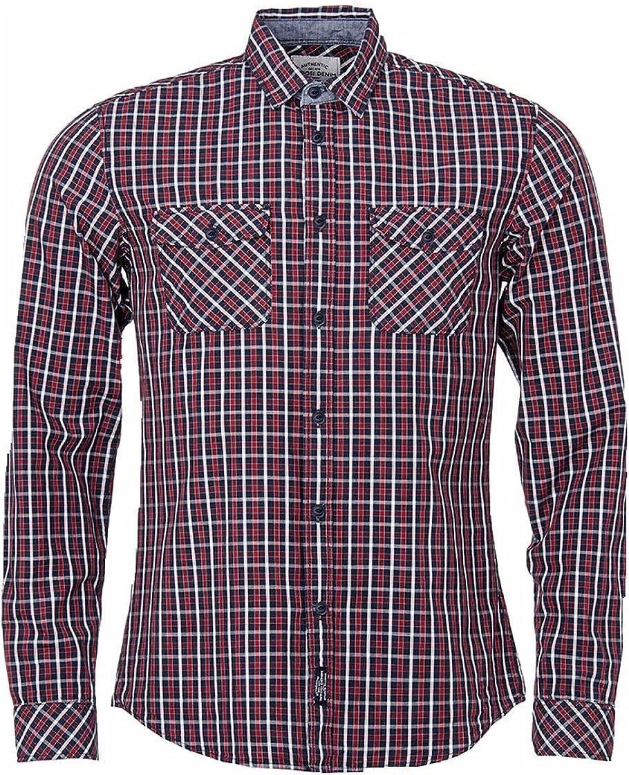 Tiffosi Camisa Cuadros Modelo Bruce Hombre ROJA Y Azul (M, ROJA): Amazon.es: Ropa y accesorios