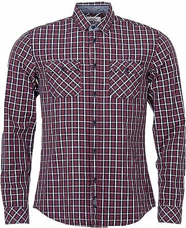 Tiffosi Camisa Cuadros Modelo Bruce Hombre ROJA Y Azul (M ...