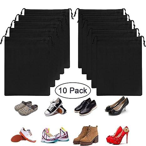 OMZGXGOD - 10 Piezas Bolsas de Zapatos, Multifunción a Prueba de A Prueba de Polvo y Resistente al Agua Bolsa de Almacenamiento de Viaje