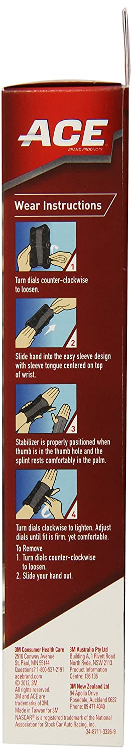 83792897aa6f Amazon.com  ACE Wrist Stabilizer with Custom Dial System