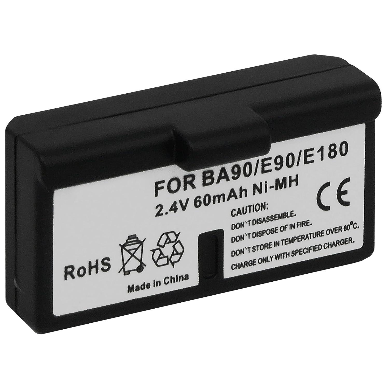 Batería BA-90 para auriculares inalámbricos Sennheiser Audioport A1, E90, E180 (Set 180), HDE 1030 / HDI 91, 92... / RI 200, RI 300.
