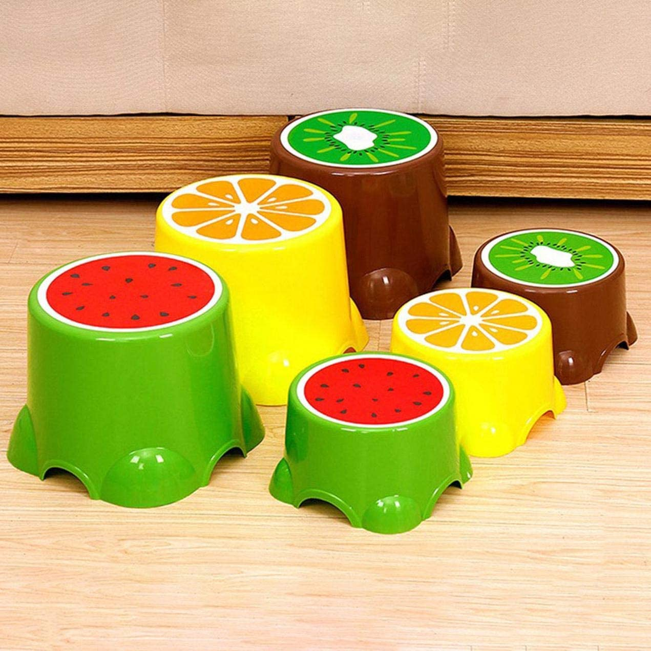 24cmx21cm for Home Decoration None Large lemon C06J6 dfgjdryt Wonderful Chris-Wang 1Pack Cute//Adorable Anti-Slip Safty Fruit Style Plastic Foot Rest Stool Stepstool for Kids//Adults