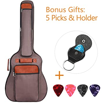 270537f23e CAHAYA Guitar Case 41 Inches | Oxford Cloth Water-Resistant Gig Bag Double  Straps for Hands-free Carry | Acoustic Guitars (Brown): Amazon.ca: Musical  ...