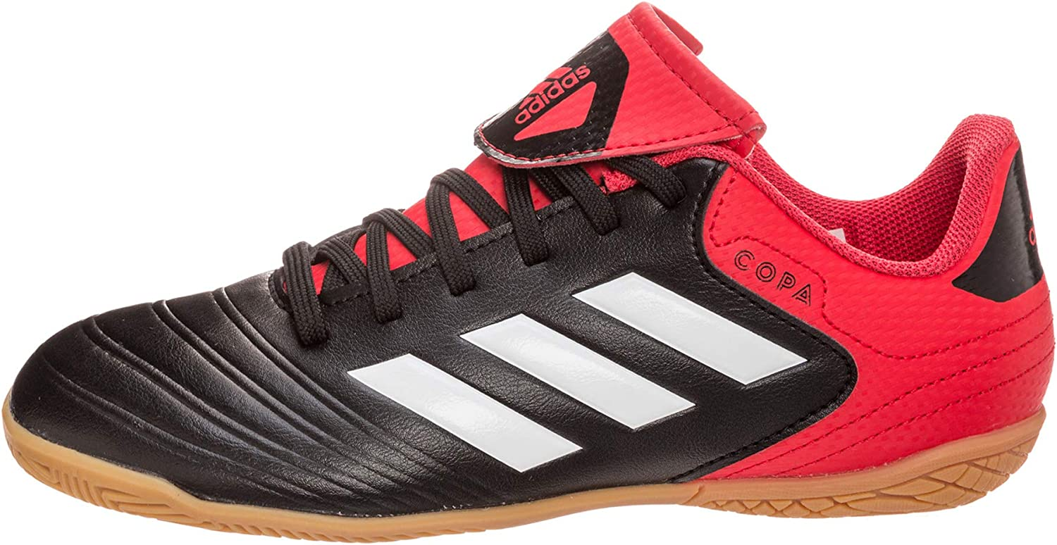 adidas Copa Tango 18.4 in, Chaussures de Football Mixte Enfant Blanc Cblack Ftwwht Reacor Cblack Ftwwht Reacor