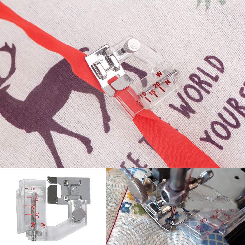 pernos de cuentas punz/ón de acolchado accesorios de costura de mercer/ía FOROREH 8pcs Bias Tape Anchor Set Herramienta de costura Bias Tape Maker con prensatelas ajustable