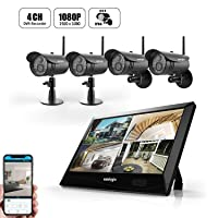 Deals on Uniojo 1080P 4-Camera Wireless Security System 8118HD4