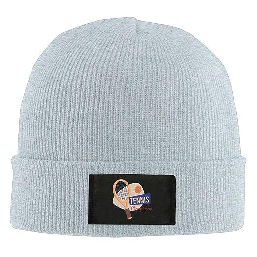 87515de12b7b5 Amazon.com  Unisex Tennis Championship Elastic Knitted Beanie Cap Winter  Outdoor Warm Skull Hats One Size Ash  Clothing