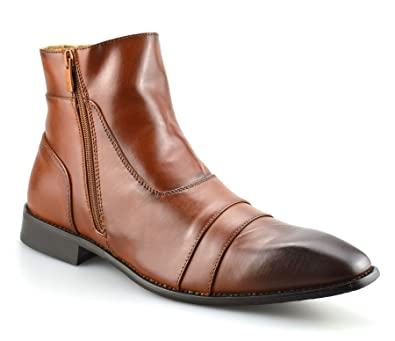 0ce2242b695 Majestics Mens New Leather Chelsea Dealer Work Formal Ankle Cowboy Biker  Boots Shoes Size[UK