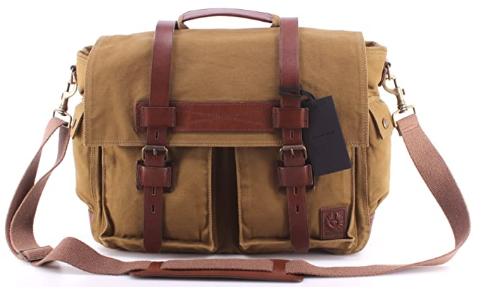 great fit performance sportswear retail prices Belstaff - Colonial Messenger Bag, Khaki, OS: Amazon.co.uk ...