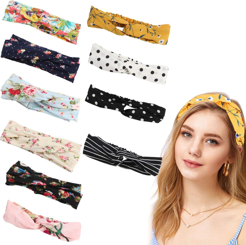 Hair Bands Women's Headband - Fashion hair band Very Soft Material Those  Elastic Headbands Made of Cotton and Spandex Fibers (10PCS): Amazon.co.uk:  Beauty