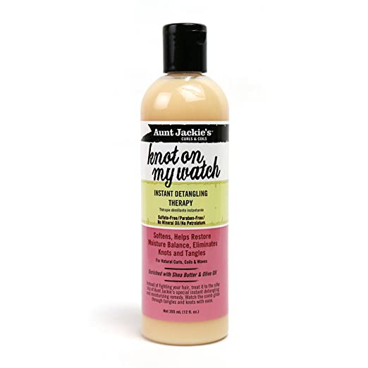 Aunt Jackie's Knot On My Watch, Instant Leave-in Detangling Therapy, Great for Hard to Manage Hair, Enriched with Shea Butter and Olive Oil, 12 Ounce Bottle - <strong>Aunt Jackie</strong>