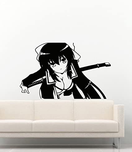 Omamori Himari Anime Wall Decal Cartoon Manga Hentai Sexy Girl Sword Vinyl Stickers Mural MK2525, Wall Stickers & Murals - Amazon Canada
