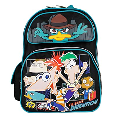 Disney Phineas and Ferb Large Backpack Boys School Book Bag 16"