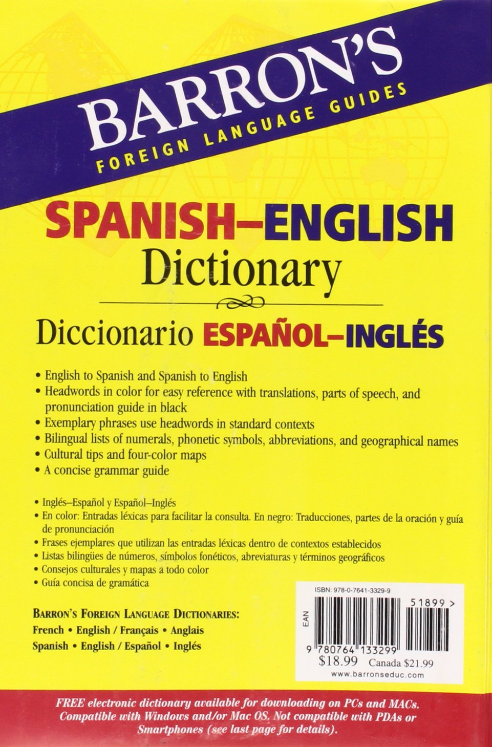 Barron's Foreign Language Guides Spanish-English Dictionary (Barron's  Bilingual Dictionaries): Margaret Cop: 9780764133299: Amazon.com: Books