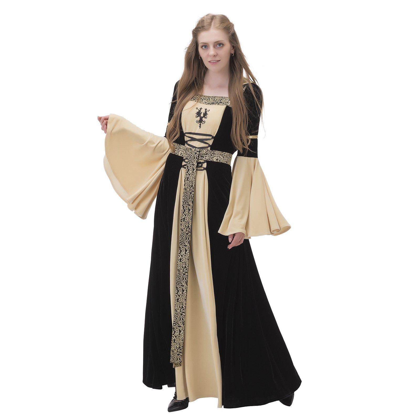 1791's lady Medieval Dress Renaissance Wedding Gown NQ0007-1-XXXL