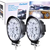 "Round Offroad Led lights, 4.5"" Led Offroad Pod Lights Bar Roof Lights Bumper Auxiliary Lamp 42W 12V 24V for Truck Je-ep"