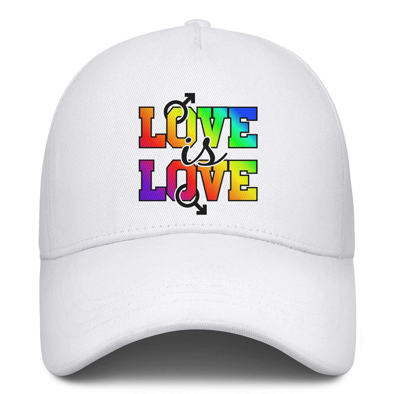 Gay Pride Rainbow Flag Love Unisex Baseball Cap Quick Dry Sport Baseball Caps Adjustable Trucker Caps Dad-Hat