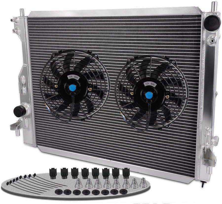 Radiador de Carreras de Aluminio + Ventilador de 2 9