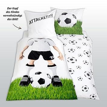 Herding Parure de lit football taie d'oreiller 80 x 80 cm et