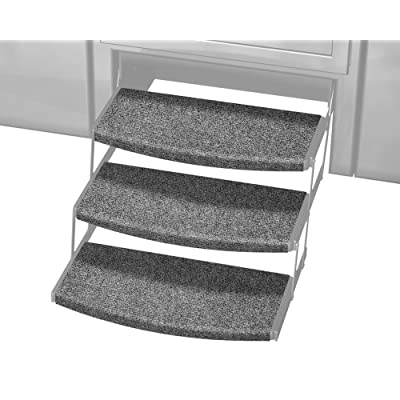 Prest-O-Fit 3-Pack 2-4109 Outrigger Radius XT RV Step Rug Castle Gray 22 in. Wide: Automotive
