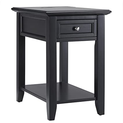 Amazon Com Ellicott End Table Or Nightstand With Built In Charging