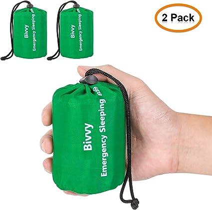 PE Sleeping Storage Bag Drawstring Camping Travel Pack Sack W// Whistle Portable