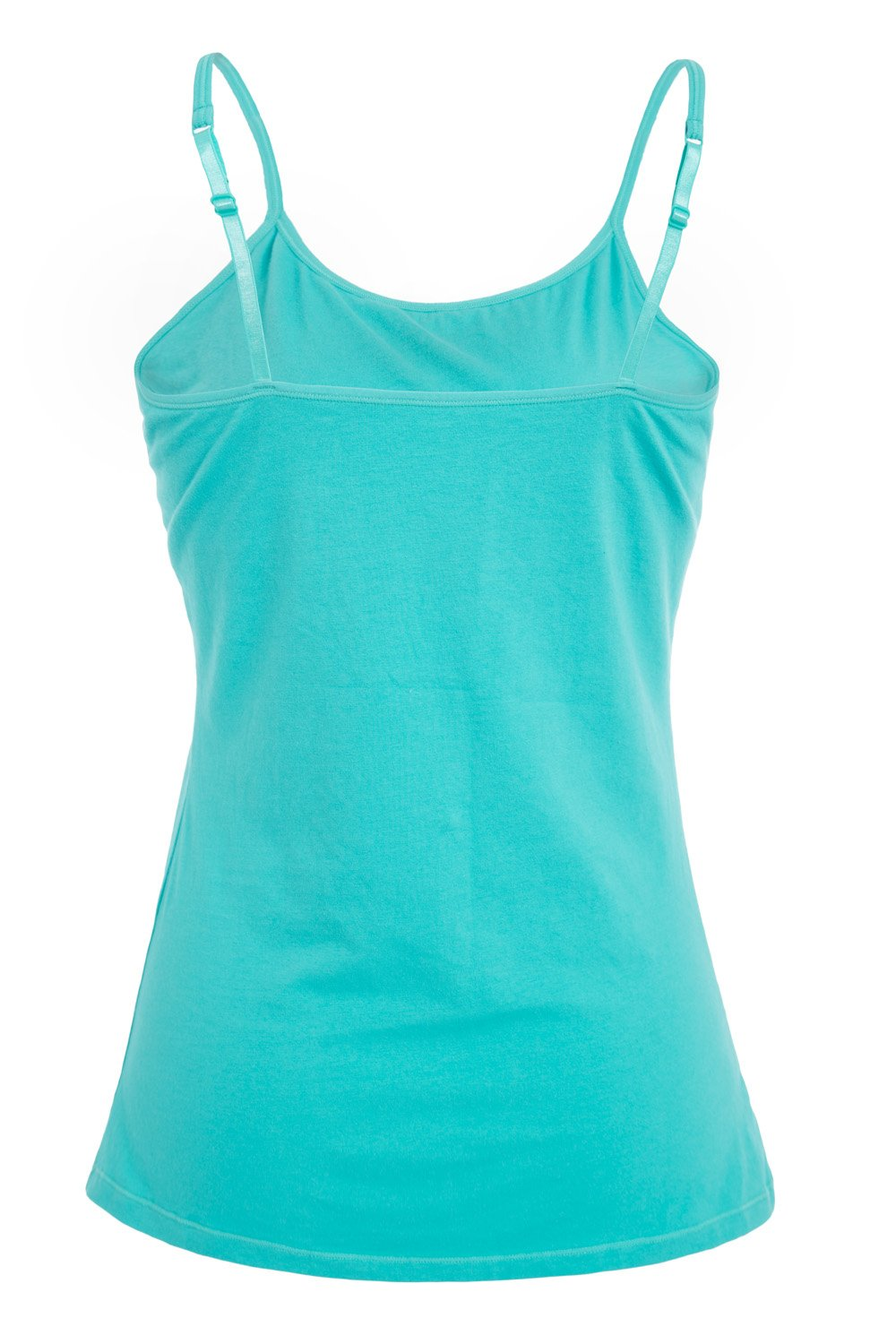 V FOR CITY Womens Active Basic Cami Cotton Tanks Top Camisole Base Layer Lingerie Aqua Black M by V FOR CITY (Image #3)
