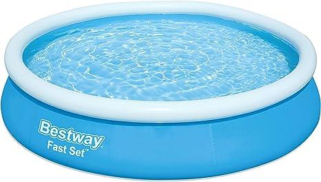 Bestway Pool 366x76 cm, ohne Pumpe Fast Set-Piscina sin Bomba (366 x 76 cm), Azul: Amazon.es: Juguetes y juegos