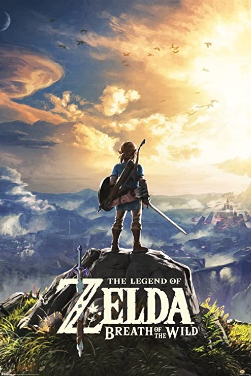 CHOOSE YOUR SIZE FREE P+P The Legend of Zelda Breath of the Wild Poster LOGO