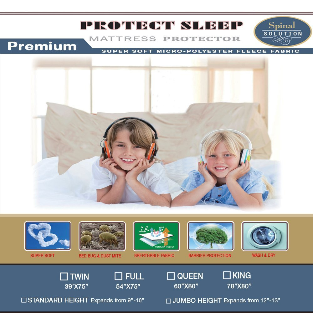 6-9-inch Mattress or Box Spring Protector Covers Full