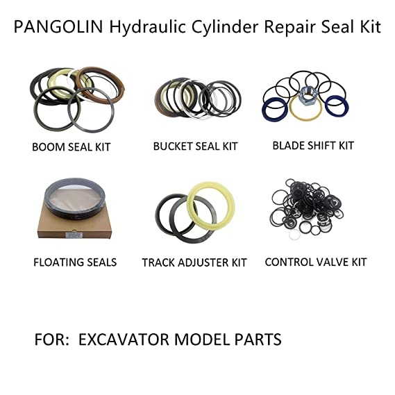 SINOCMP Seal Kits for Hitachi EX200-5 Excavator Parts 3 Month Warranty EX200-5 Center Joint Seal Kits