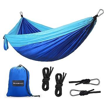 camping hammock shine hai portable travel 2 person parachute hammock swing quick drying camping hammock shine hai portable travel 2 person parachute      rh   amazon co uk