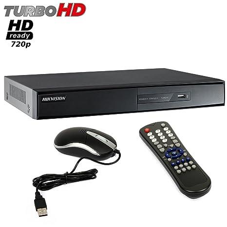 Dvr 4 Canales Vigilancia HIKVISION Picadis Turbo HD Ready HDMI, 720P 7204HGHI-SH-