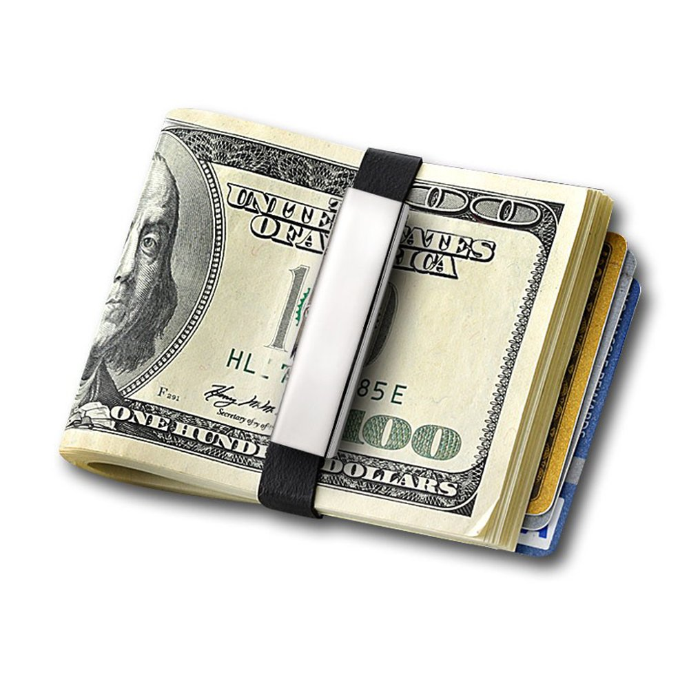 Grand Band Stainless Steel & Rubber Money Clip
