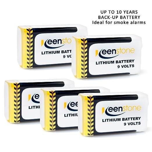 9 opinioni per Keenstone N°5 Batterie al Litio 9V 1200mAh, Batterie in Metallo(U9VL-JP10CP),