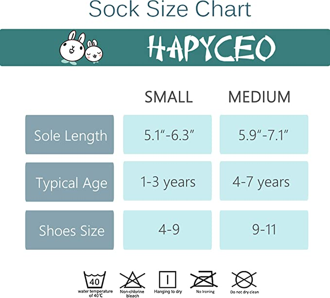 Toddler Socks Athletic HAPYCEO Unisex Kids Non-skid Cotton Ankle Socks 6 Pack