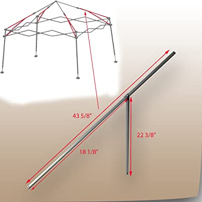 "for Coleman 12' x 12' Slant Leg Instant Canopy Gazebo 43 5/8"" PEAK TRUSS Bars with Support: Garden & Outdoor"