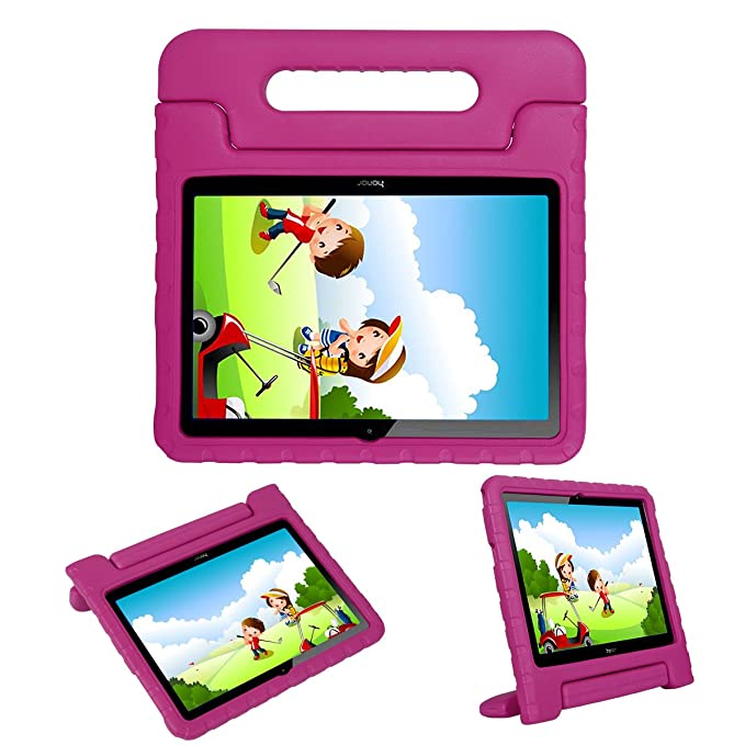 i-original Compatible with Huawei MediaPad T3 10-in Case,Shock Proof Honor Play Pad 2 9.6-in EVA Case for Kids Bumper Cover Handle Stand,Convertible ...