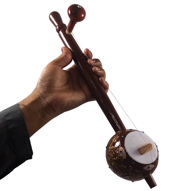 12.5'' Inch Iktara (Tumbi) Handmade Authentic Indian Folk Music Instrument Kids Playing Wooden 12.5'' Inch Iktara (Tumbi) Showpieces Premium Christmas Gift or Multi Occasional Gift