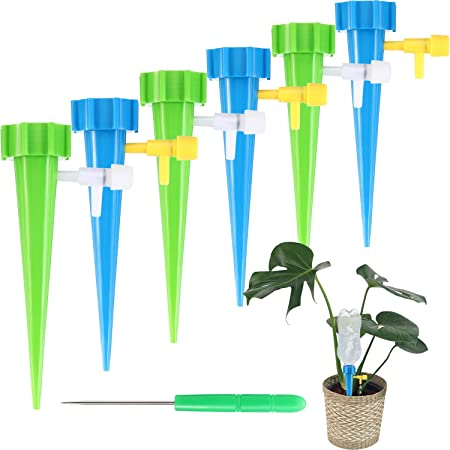 6PCS Plant Waterer Self Watering Spikes System Automatic Drip Irrigation Dripper