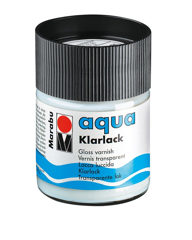 Marabu 113505000 –  Aqua Vernis transparent, 50 ml, transparent 50ml