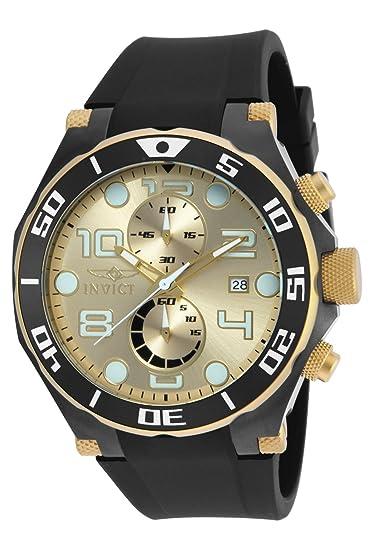 Invicta 17815 Pro Diver Reloj para Hombre acero inoxidable Cuarzo Esfera oro: Amazon.es: Relojes