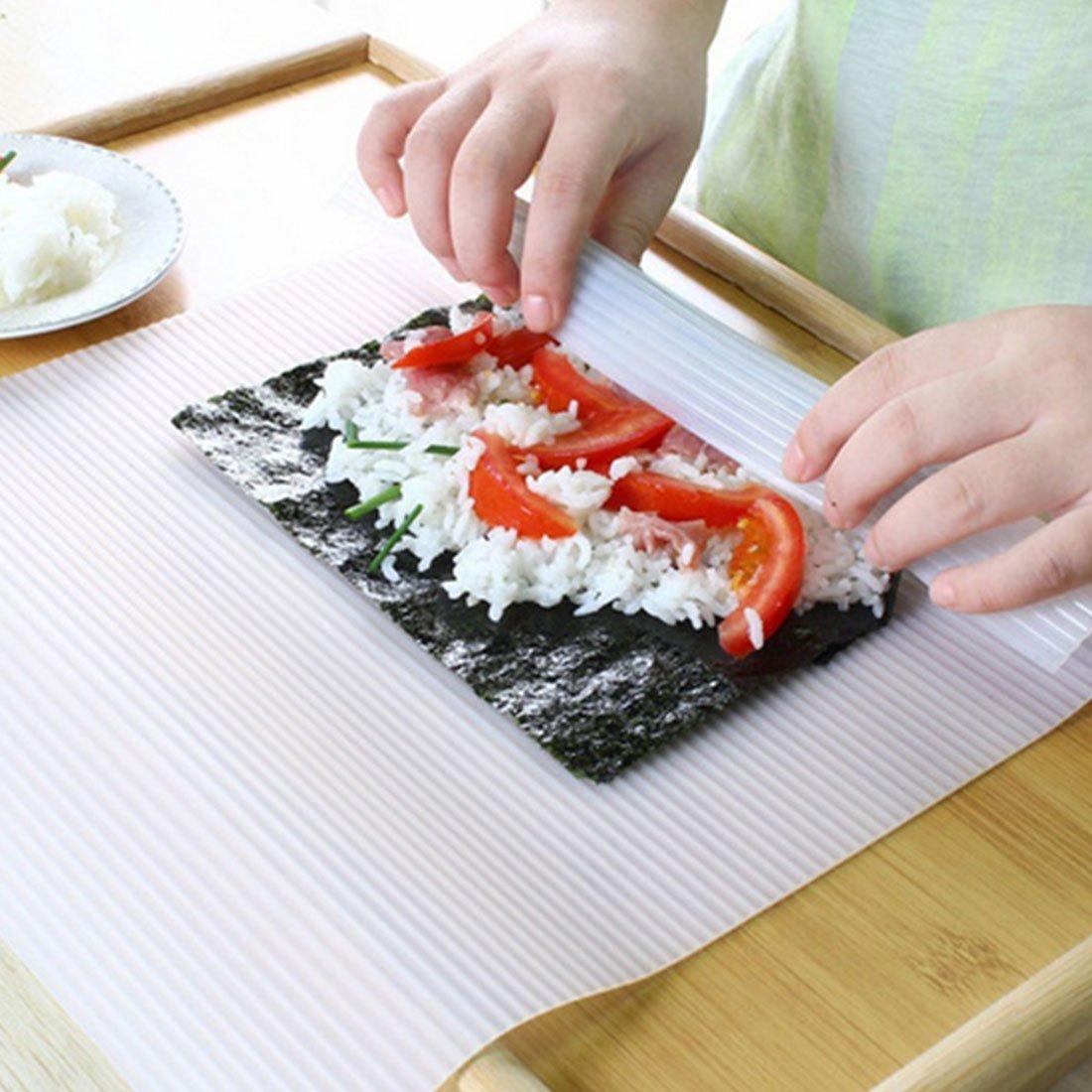Oggibox Non-Stick Sushi Rolling Mat, DIY Sushi Roller Maker 9.45 inch x 8.25 inch
