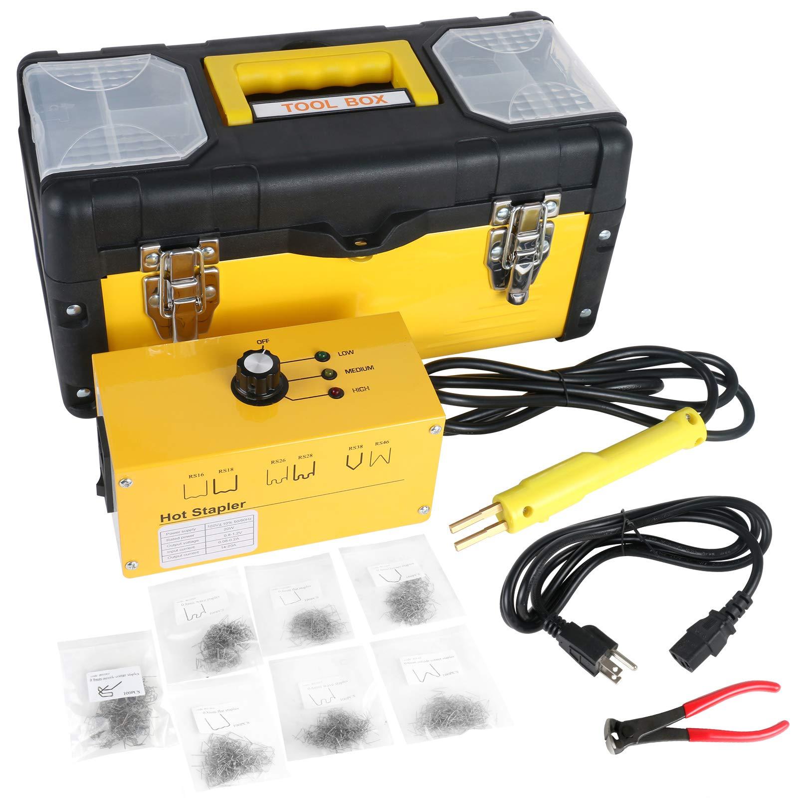 BELEY Car Bumper Repair Plastic Welder Kit, 110V Hot Stapler Plastic Welding Hot Staple Gun with 700PCS Staples by BELEY