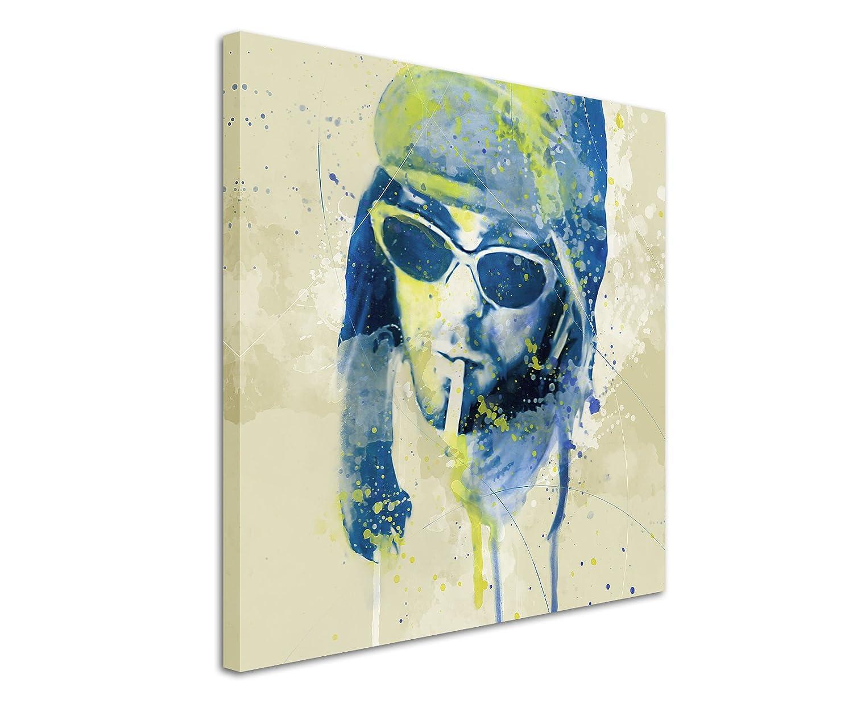 Amazon.de: Kurt Cobain I Aqua 60x60cm - Splash Art Paul Sinus ...