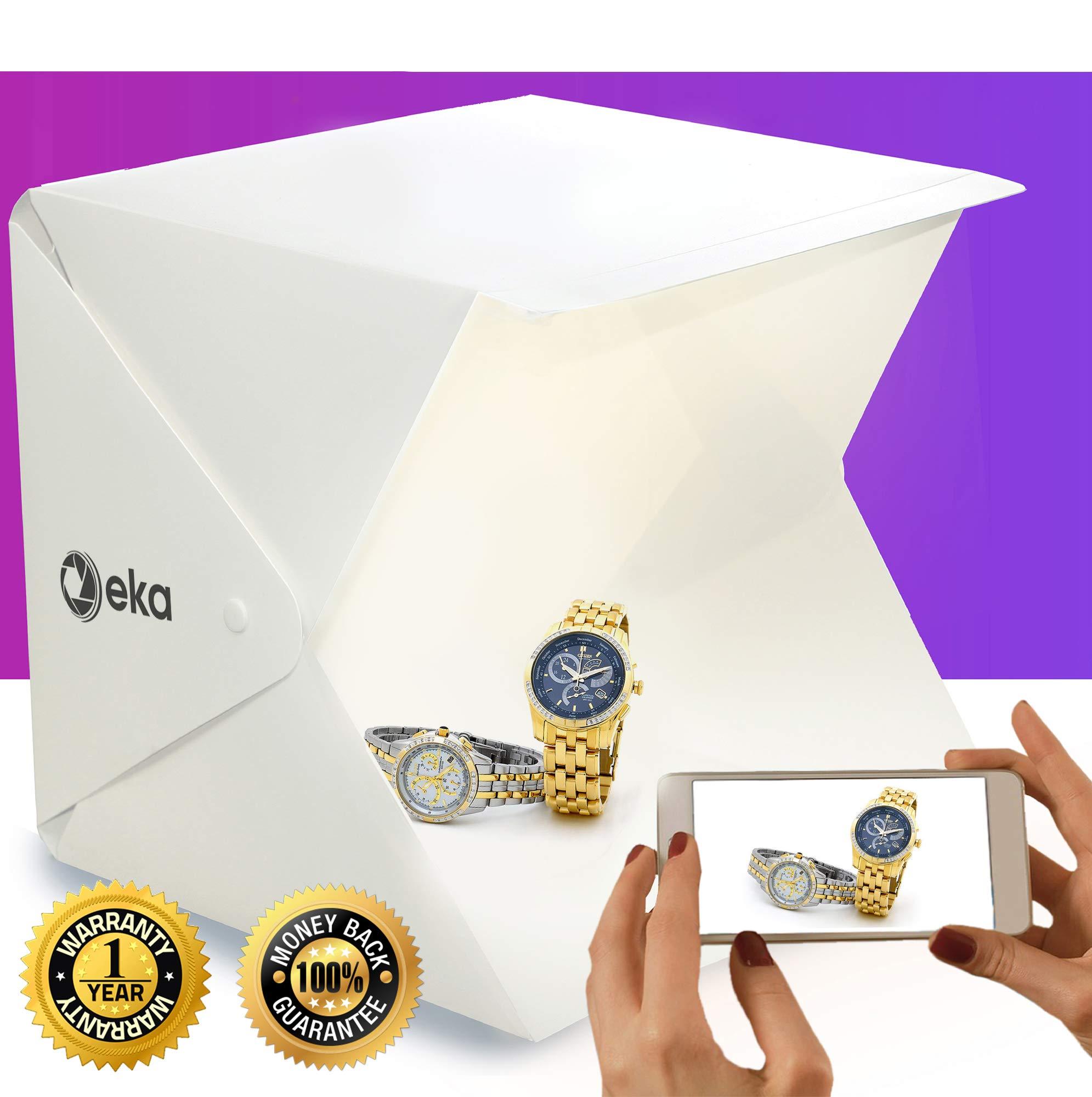 Photo box - Lightbox - Portable photo studio - Light box photography - Product photography light box - Photo light box - Light tent - Mini led studio photo box - Product photography kit - Light box