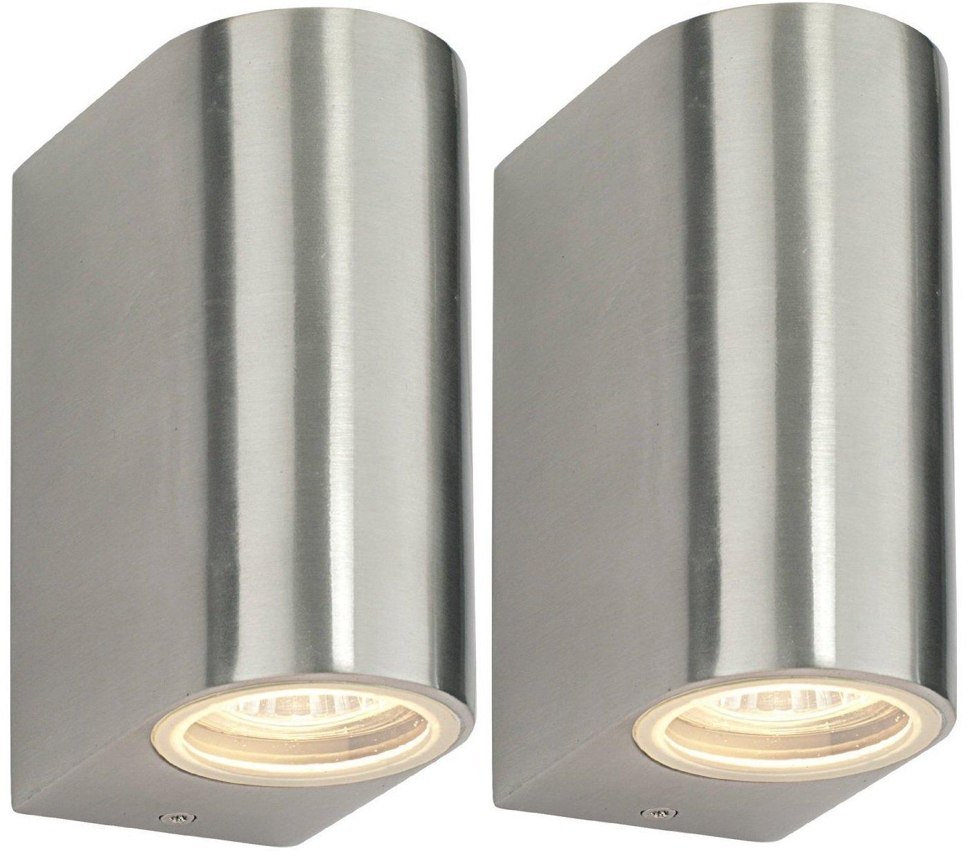 2 X Modern Double Outdoor Wall Light IP44 Up/Down Outdoor Wall Light ZLC023 Long Life Lamp Company ZLC232P