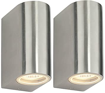 2 X Modern Double Outdoor Wall Light IP44 Up/Down Outdoor Wall Light ZLC023