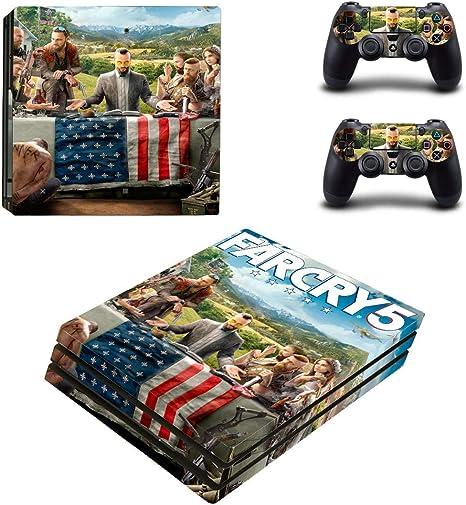 thtb Playstation 4 Pro + 2 controlador Diseño Sticker Protector Juego – FarCry 5/PS4 P: Amazon.es: Videojuegos