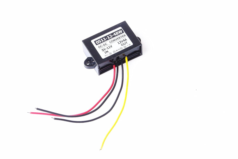 Knacro 6v 9v 5 11v Step Up To 12v 4a Boost Converter Dc 5v 30v Waterproof Voltage 3a Power Supply Regulator Transformer Module